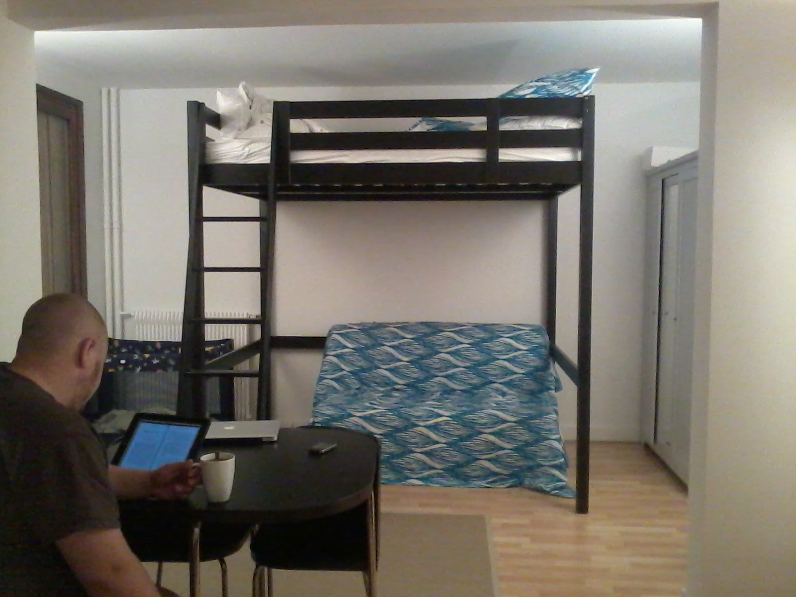 loft bed in paris studio