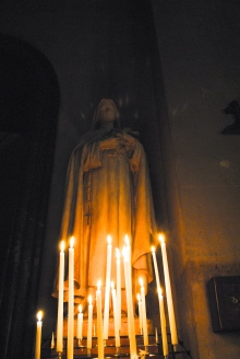 Mother Mary Candlelit
