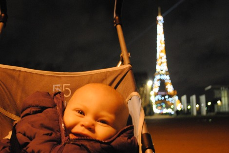 Kids on the Eiffel Tower