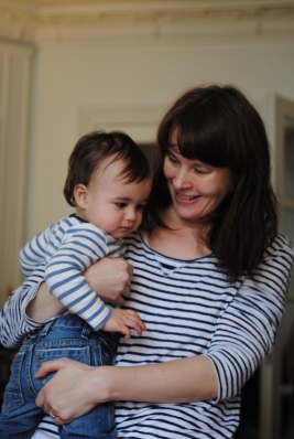 French kid and French mum in stripes!!!