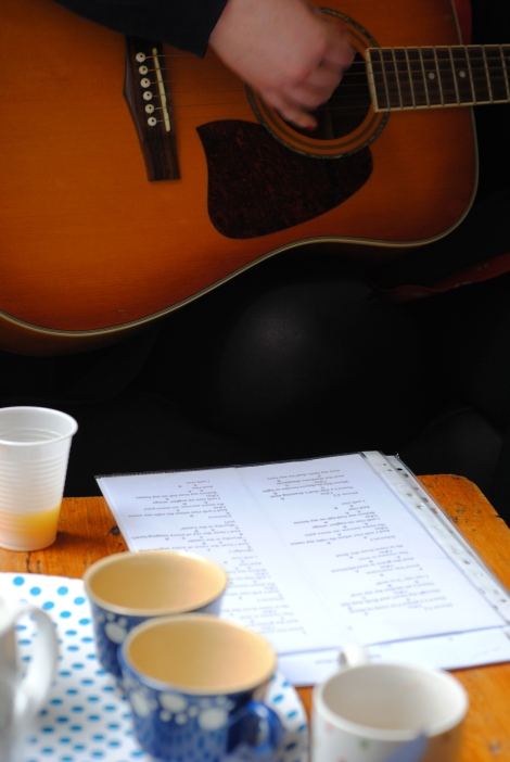 Coffee + acoustic worship = holy of holies?