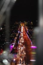 Champs Élysées at night form the Concorde Ferris Wheel