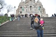 Our little blossom at the Sacre Cœur
