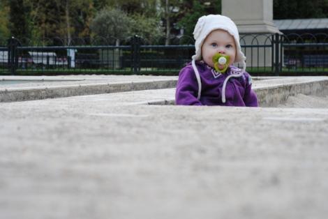 There are little kid sections (des parcs pour les tout petits)