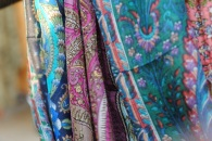 Scarves at a marché