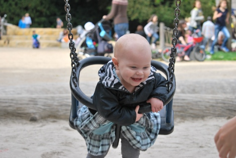 First time in a real swing!