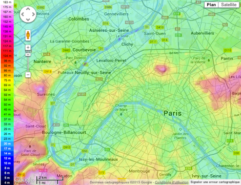 The pink area on the left is Suresnes.